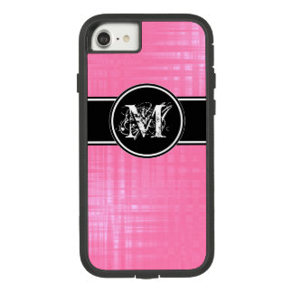 Aspen Raspberry Monogram Cover For iPhone 8/7