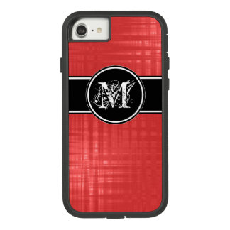 Aspen Red Monogram Cover For iPhone 8/7