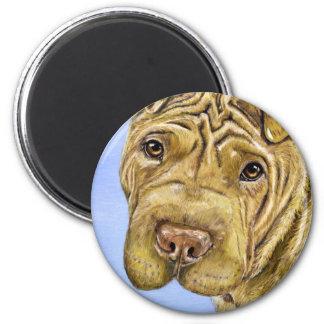Aspen - Shar Pei Dog Art 6 Cm Round Magnet