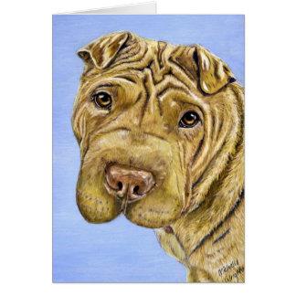 Aspen - Shar Pei Dog Art Greeting Card