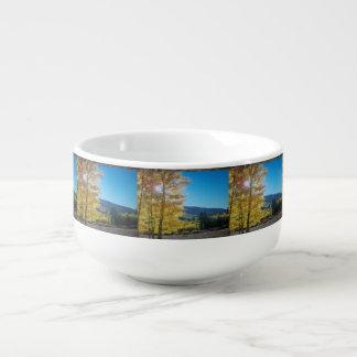 Aspen Sunrise Soup Bowl With Handle