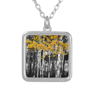 Aspen Touch of Orange Silver Plated Necklace
