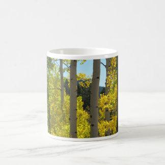 Aspen Tree Trunks in Golden Grove Coffee Mug