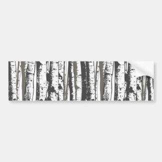 aspen trees bumper sticker