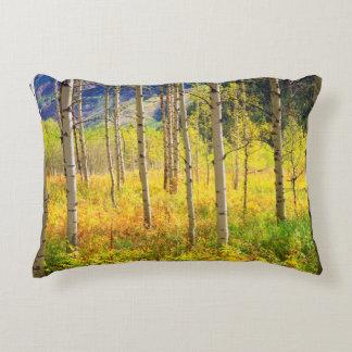 Aspen Trees in Autumn in the Rockies Decorative Cushion
