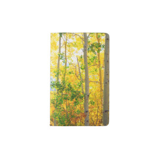 Aspen Trees In Fall | Sierra Nevada Mountains, CA Pocket Moleskine Notebook