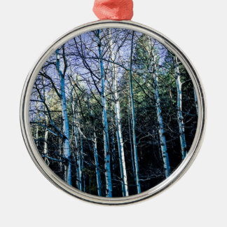 Aspen trees in the fall metal ornament