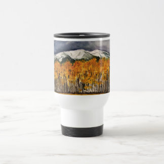 Aspen Trees Watercolor Art Travel Coffee Mug