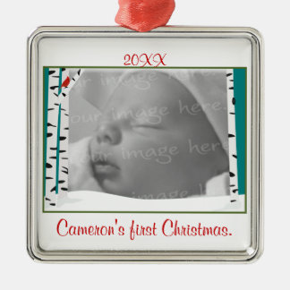 Aspen Woods Personalized Photo Ornament