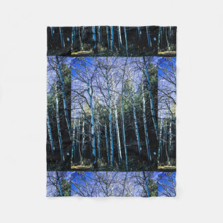Aspens and pine trees in the fall fleece blanket