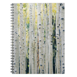 Aspens Forest - Painted Spiral Notebook