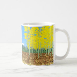 aspens in autumn coffee mug