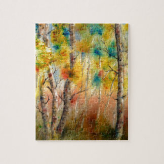 Aspens in Fall Jigsaw Puzzle