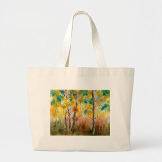 Aspens in Fall Large Tote Bag