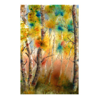 Aspens in Fall Stationery Paper