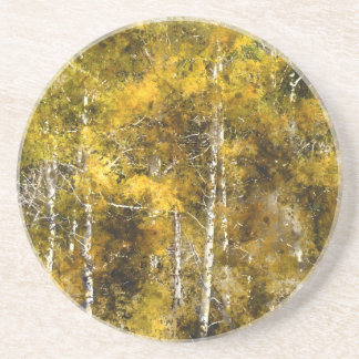 Aspens in the Fall Drink Coaster