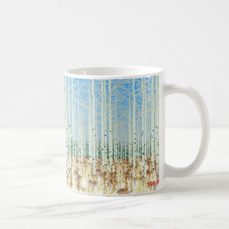 aspens in winter coffee mug