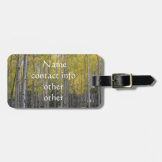 Aspen's yellow glow luggage tag