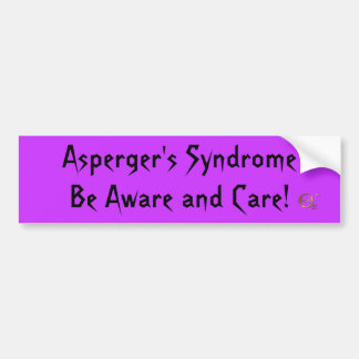Asperger s Syndrome Be Aware and Care Bumper Sticker