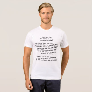 Asperger syndrome cure protest autism awareness T-Shirt