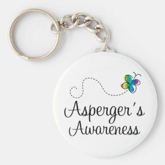 Aspergers Awareness Basic Round Button Key Ring