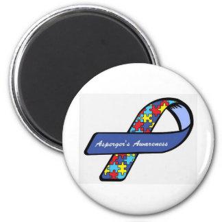 Asperger's Awareness Ribbon 6 Cm Round Magnet