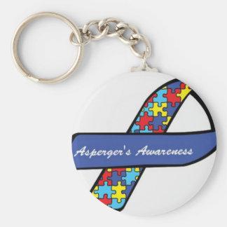 Asperger's Awareness Ribbon Basic Round Button Key Ring