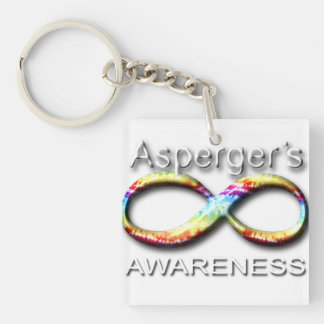 Aspergers Awareness Single-Sided Square Acrylic Key Ring