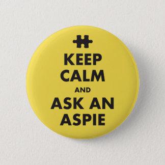 aspergers syndrome awareness keep calm Aspie Badge