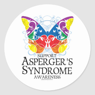 Asperger's Syndrome Butterfly Round Sticker