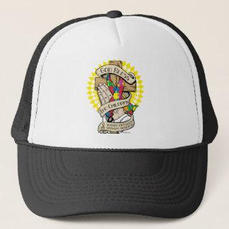 Asperger's Syndrome Praying Hands Trucker Hat