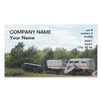 Asphalt Milling Machine Business Card Template