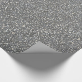 Asphalt Pavement Blacktop Texture Wrapping Paper