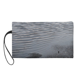 Asphalt Puddle Urban Rain Ripples Clutch Bag Wristlet