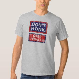 Asphalt Shirts, New York Street Style, Don't Honk T Shirts