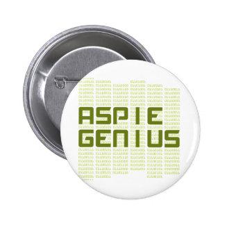 Aspie Genius - Computers 6 Cm Round Badge