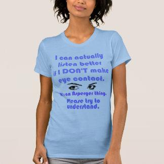 Aspie/No Eye Contact T-Shirt