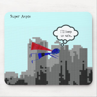 "Aspie to save the day..... ""Autism Awareness"" Mouse Pad"