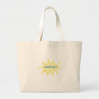 Aspiegirl Woman with Aspergers Large Tote Bag