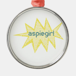 Aspiegirl Woman with Aspergers Metal Ornament