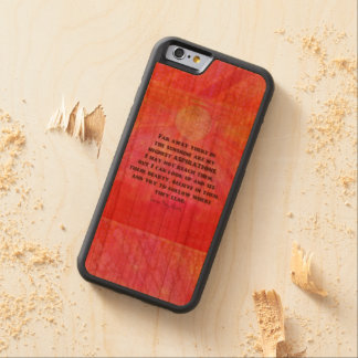 Aspirations quote Louisa May Alcott Carved Cherry iPhone 6 Bumper Case