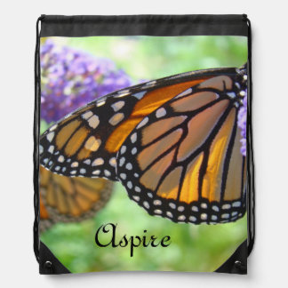 Aspire gifts Monarch Backpacks drawstring