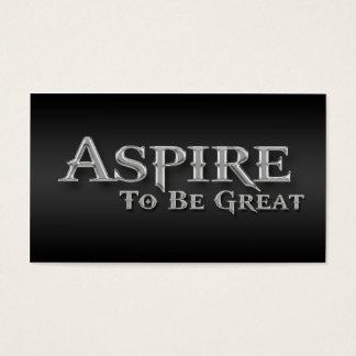 Aspire Inspirational Sleek Metallic Business Cards