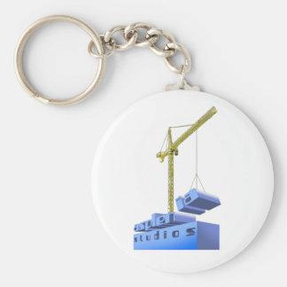 Asplenia Studios - Build 'em up Basic Round Button Key Ring