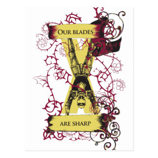 assassin our blades are sharp postcard