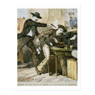 Assassination of 'Wild Bill' (W.B. Hickok) by Jack Postcard