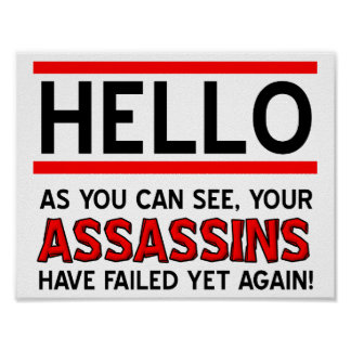 Assassins Failed Funny Poster