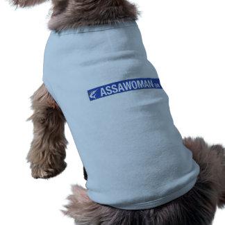 Assawoman Drive, Street Sign, Virgina, US Sleeveless Dog Shirt