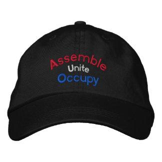 Assemble Unite Occupy Embroidered Cap