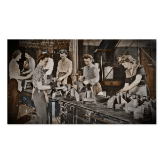 Assembly Munitions Factory Workers  1945 Pack Of Standard Business Cards